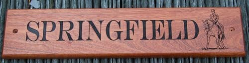 Sapele Wood House Signs   The Sign Maker Shop